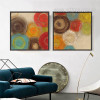 Retro Design Colorful Circles Cheap Painting Prints