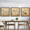 Retro Design Bird Branch Nest Extra Large Wall Art
