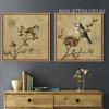 Retro Birds Combination Bee Eater Sparrow Wall Art Decor
