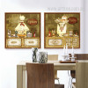 Cartoon Humorous Kitchen Chef Pastry, Sugar Retro Poster Prints