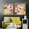 Retro Syle Birds, Floral Wall Art