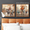 Retro Style Paris France Street Scenery Prints for Bedroom Decor