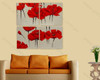 Red Peony multi panel oil painting