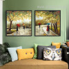 Light Green Spring Romantic Couple Retro Artwork Prints