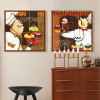 Retro Style Chef with Cup Cakes Desserts Kitchen Wall Art