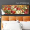 Retro Color Poppy Flowers Wall Art