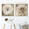 Poppy and Daisy Flower Retro Art
