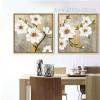 Retro Style Spring Fresh White Floral Canvas Art