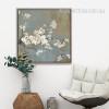 White Cherry Tree Flowers Retro Canvas Prints
