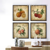 Apple, Orange, Honey Peach, Pomegranate Fruits Kitchen Wall Art