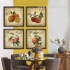 Apple, Orange, Honey Peach, Pomegranate Fruits Kitchen Wall Decor