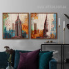 New York Empire State Building Skyscraper Theme Living Room Decor