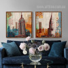 New York Empire State Building Skyscraper Theme Wall Art