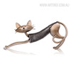 Metal Cat Shaped Figurine Iron Art Decoration