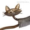 Metal Spring Cat A Art