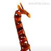 Iron braided Giraffe Animal Face Metal Sculpture