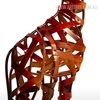 Iron braided Giraffe Animal Metal Sculpture (2)