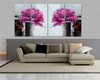 Pink Peony Floral split canvas paintings