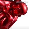 Dark Red Resin Strong Muscular Diving Posture Sculpture (4)