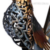 Colorful Rooster Iron Metal Sculpture (3)