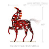 Metal Sculpture Vintage Braided Horse Animal Size Description