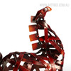 Metal Sculpture Vintage Braided Horse Animal Figurine for Home Decor (3)