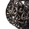 Black Rooster Iron Metal Sculpture (3)