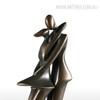 The Kiss Couple Fiberglass Sculpture (4)