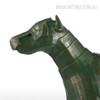Armor Dog Animal Fiber Glass Sculpture for Home Decor (4)