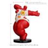 Red Fat Woman Dancing Figurine Size Description