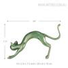 Stretching Cat Animal Fiber Glass Figurine Bronze Sculpture Size Description