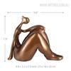 Plump Thinking Woman Fiber Glass Statue Size Description
