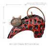 Lazy Cat Iron Metal Sculpture Animal Statue Size Description