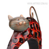 Lazy Cat Iron Metal Sculpture Animal Statue (2)