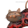Lazy Cat Iron Metal Sculpture Animal Statue (3)