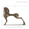 Vigorous Horse Statue Fiber Glass Sculpture Size Description