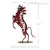 Red Weaving Horse Iron Metal Sculpture Animal Statue Size Description