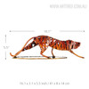 Iron Braided Leopard Metal Sculpture Animal Figurine Size Description
