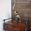 Iron Braided Elephant Statue Animal Metal Sculpture