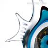 Blue Stripe Tropical Fish Glass Sculpture Aquatic Figurine (4)