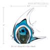 Blue Stripe Tropical Fish Glass Sculpture Aquatic Figurine Size Description