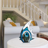 Blue Stripe Tropical Fish Glass Sculpture Aquatic Figurine (2)