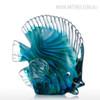 Blue Tropical Fish Glass Miniature Pisces Sculpture (1)