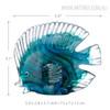 Blue Tropical Fish Glass Miniature Pisces Sculpture Size Description