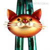 Iron Metal Little Cat Animal Figurine (4)