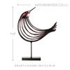 Iron Metal Bird Figurine Silver Wire Sculpture Size