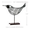 Iron Metal Bird Figurine Silver Wire Sculpture Size Description