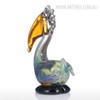 Big Mouth Pelican Bird Glass Sculpture Miniature for Home Decor (2)