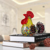 Multicolor Rooster Glass Sculpture Cock Miniature (4)