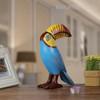 Big Mouth Toucan Bird Fiberglass Resin Sculpture Art (1)